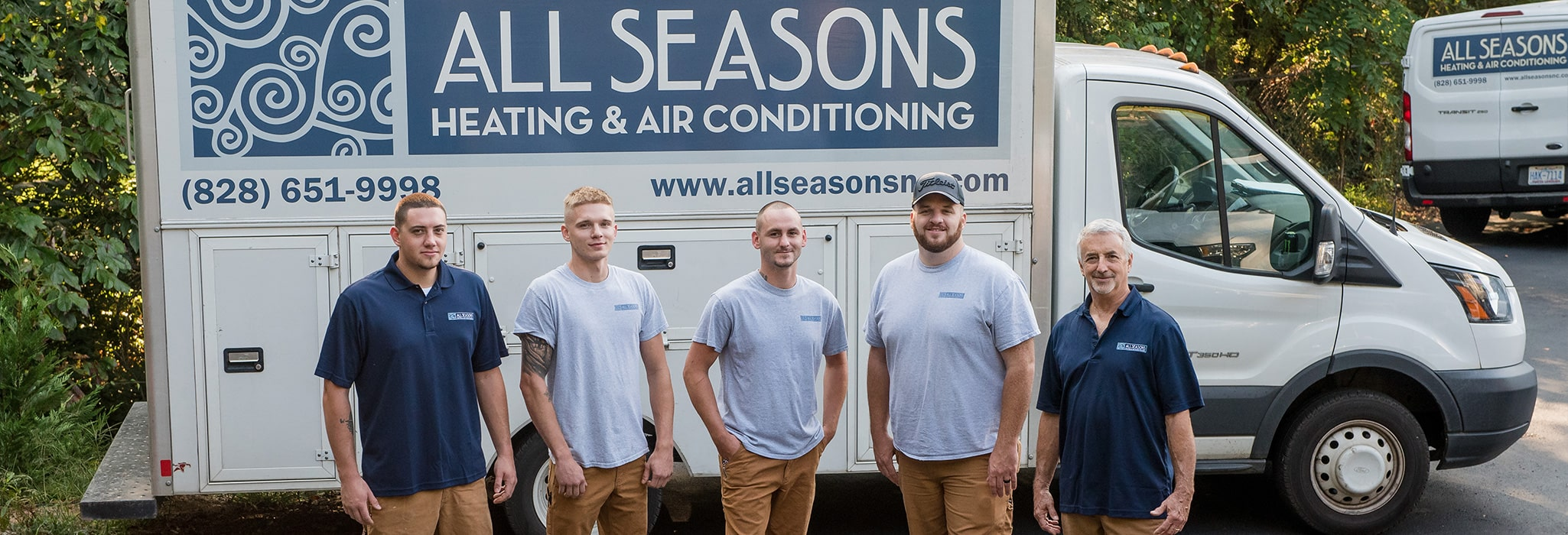 Our outstanding installers and technicians: Aran, Zach, Billy, Cody and Morgan