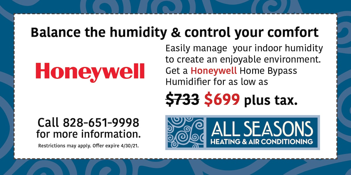 Honeywell Home Bypass Humidifier for as low as $699 plus tax. | Expires 04/30/21