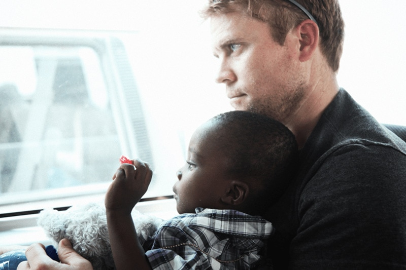 Tim Ballard with child,