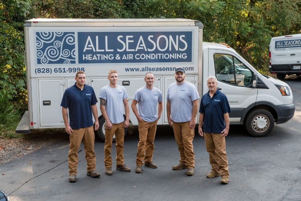 All Seasons Heating and Air Conditioning technicians.